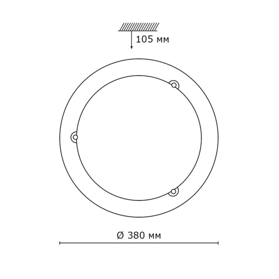 211 SN 135 св-к RIGA стекло E27 2*100Вт D380