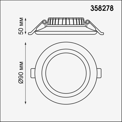 358278 SPOT NT19 000 белый Встраиваемый светильник IP20 LED 4000K 6W 85-265V JOIA