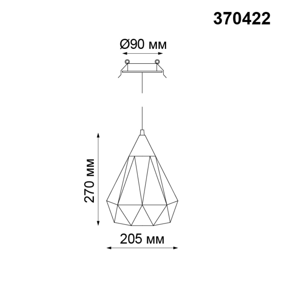 370422 SPOT NT19 108 черный Встраиваемый светильник IP20 E27 50W 220V ZELLE