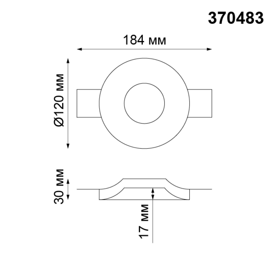 370483 SPOT NT19 043 белый Встраиваемый под покраску светильник IP20 GU10 50W 220V YESO
