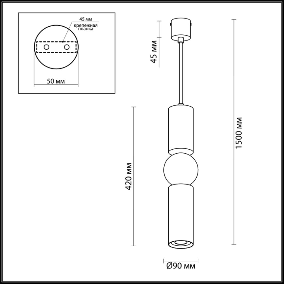 4071/5L L-VISION ODL19 16 серый/золото Подвес GU10 1*5W SAKRA