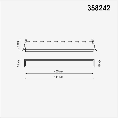 358242 SPOT NT19 083 белый Встраиваемый светильник IP20 LED 30W 85-265V HIELO