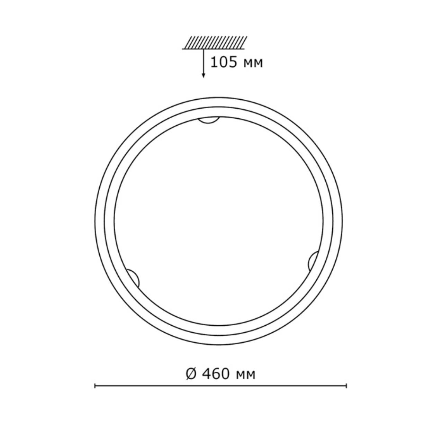 256 SN 109 св-к PROVENCE CREMA стекло E27 2*100Вт D460