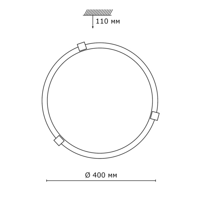 253 хром SN 112 св-к DUNA стекло E27 2*100Вт D400